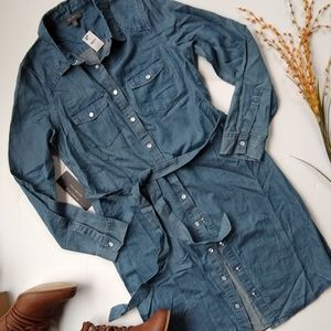 /The Limited/ chambray belted shirt dress
